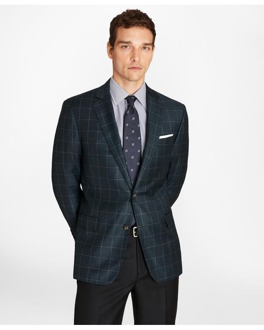Brooks Brothers - Blue Regent Fit Windowpane Sport Coat for Men - Lyst
