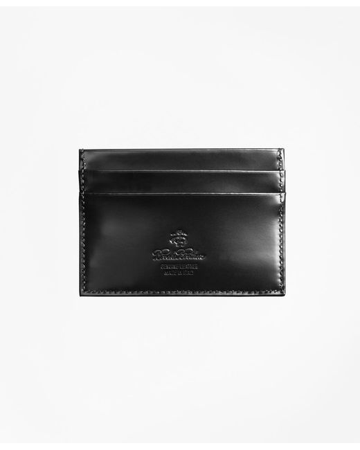 Brooks Brothers - Black French Calfskin Slim Card Case for Men - Lyst