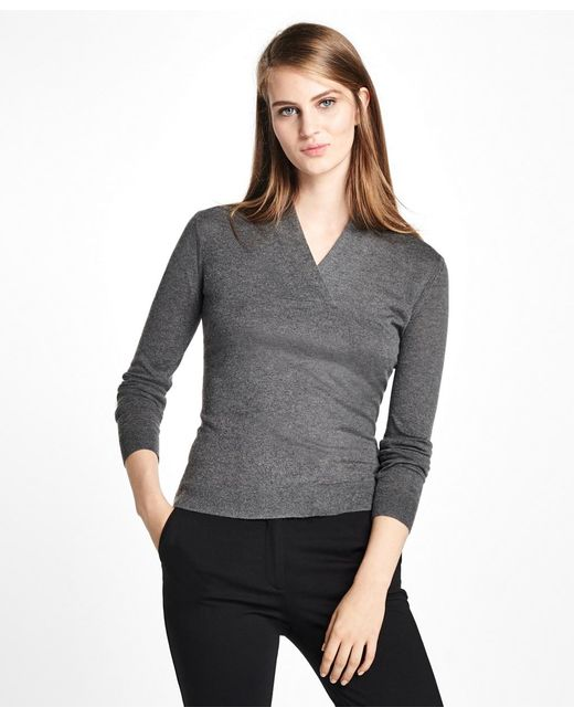 Brooks Brothers - Multicolor Silk-cashmere Shawl-collar Sweater - Lyst