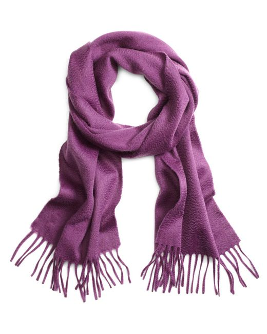 Brooks Brothers - Purple Cashmere Scarf for Men - Lyst