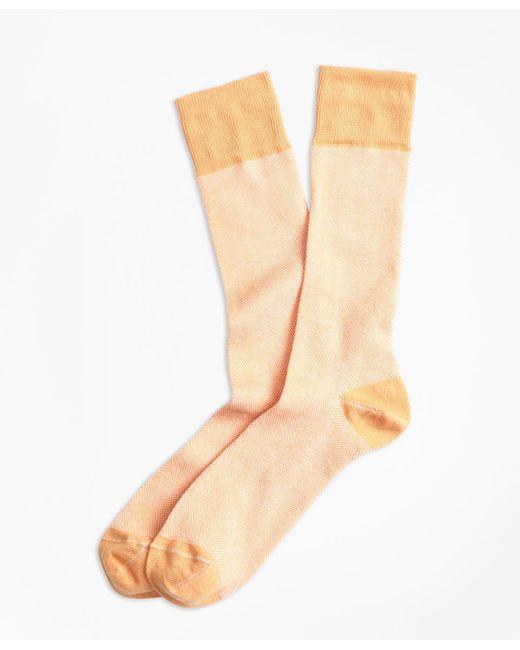 Brooks Brothers - Orange Color-block Crew Socks for Men - Lyst