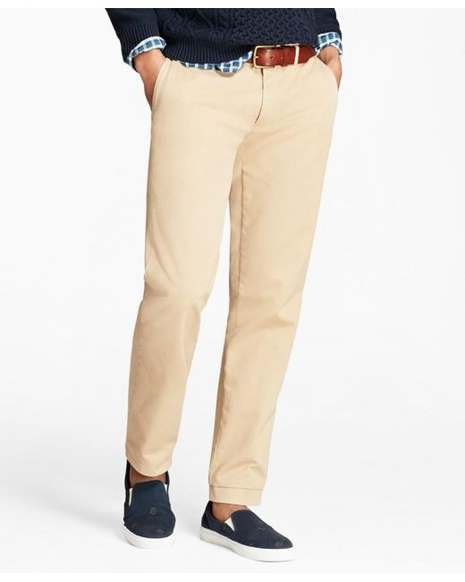 Brooks Brothers - Natural Slim Fit Garment-dyed Chinos for Men - Lyst