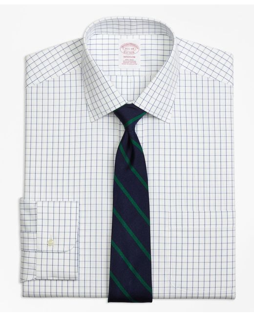 Brooks Brothers | Metallic Non-iron Madison Fit Windowpane Dress Shirt for Men | Lyst