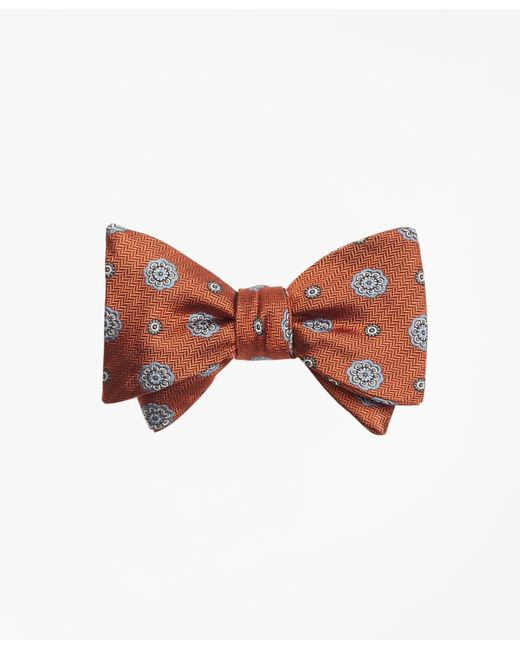Brooks Brothers | Orange Spaced Medallion Bow Tie for Men | Lyst