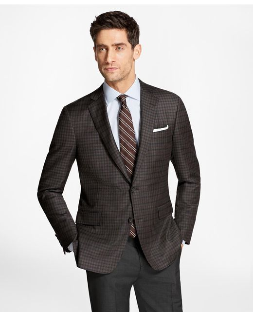 Brooks Brothers | Brown Regent Fit Multi-check Sport Coat for Men | Lyst