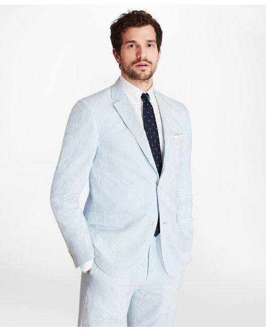 Brooks Brothers - Blue Regent Fit Seersucker Sport Coat for Men - Lyst