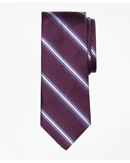 Brooks Brothers - Purple Framed Stripe Tie for Men - Lyst