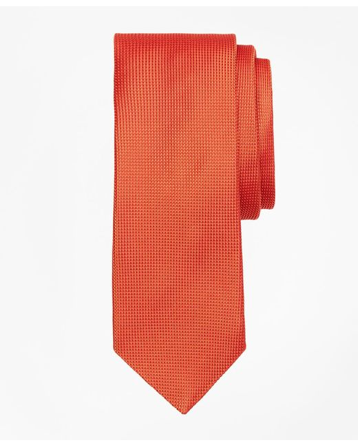 Brooks Brothers - Orange Textured Solid Tie for Men - Lyst
