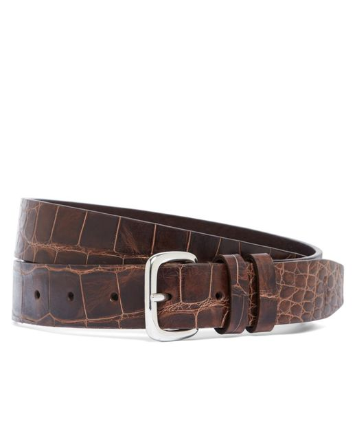 Brooks Brothers | Brown Harrys Of London® Alligator Basel Belt for Men | Lyst