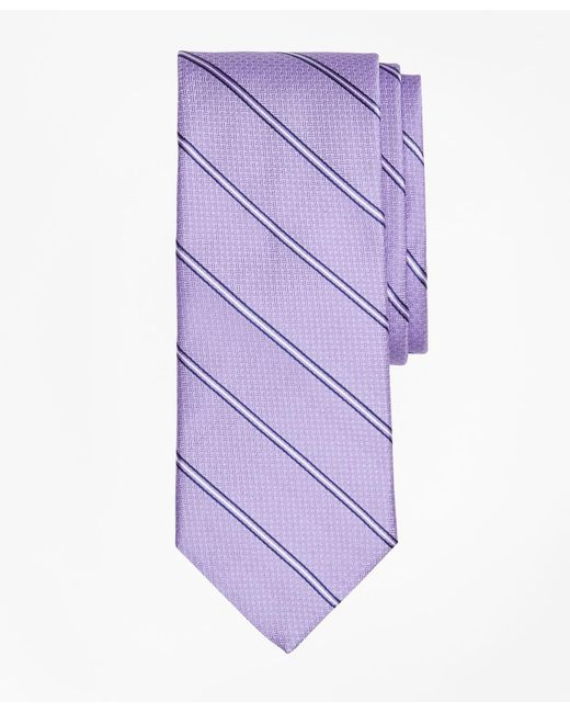 Brooks Brothers - Purple Spaced Framed Stripe Tie for Men - Lyst