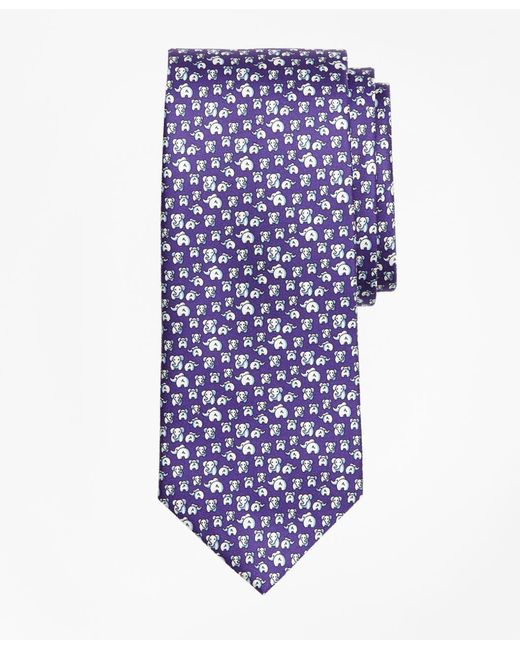 Brooks Brothers - Purple Elephant Motif Print Tie for Men - Lyst