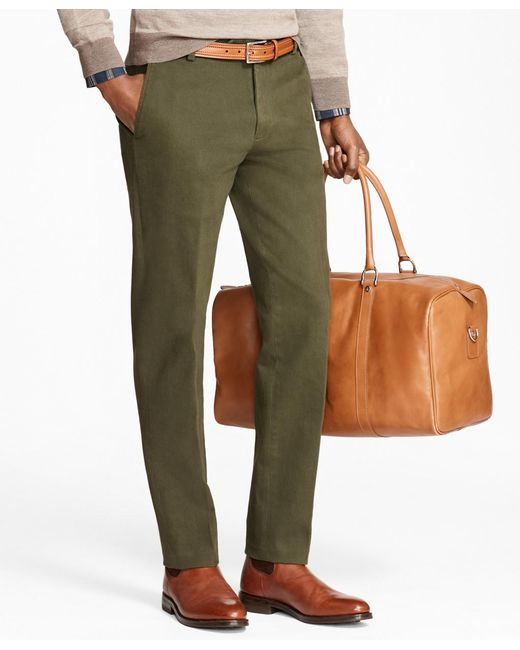 Brooks Brothers | Green Milano Fit Brushed Twill With Stretch Chinos for Men | Lyst