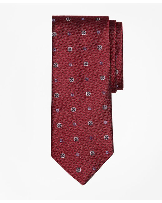 Brooks Brothers - Red Houndstooth Medallion Tie for Men - Lyst