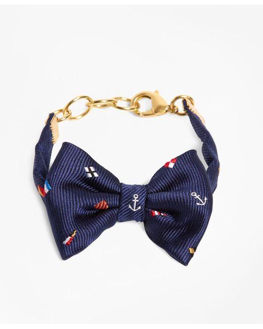 Brooks Brothers   Blue Kiel James Patrick Navy Nantucket Bow Bracelet   Lyst