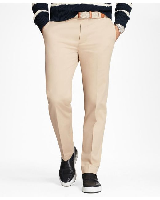 Brooks Brothers - Natural Milano Fit Supima® Cotton Stretch Chinos for Men - Lyst