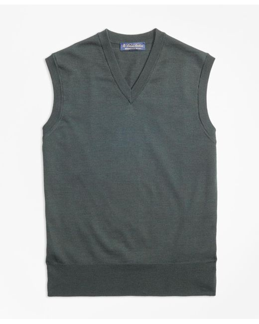 Brooks Brothers | Green Brookstech Merino Wool Vest for Men | Lyst