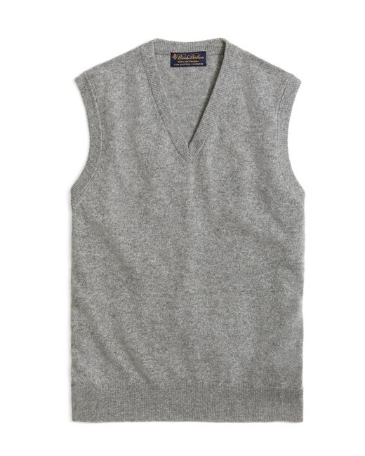 Brooks Brothers - Gray Cashmere Sweater Vest-basic Colors for Men - Lyst