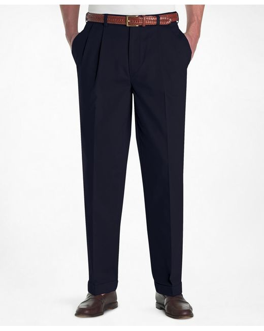 Brooks Brothers | Blue Elliot Fit Pleat-front Lightweight Advantage Chinos® for Men | Lyst