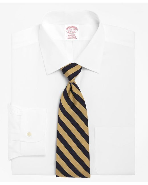 Brooks Brothers - White Madison Fit Spread Collar Dress Shirt for Men - Lyst