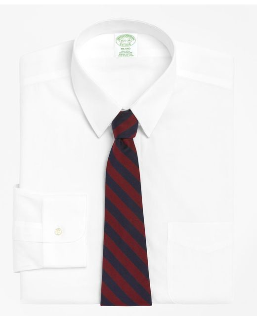 Brooks Brothers - White Non-iron Milano Fit Tab Collar Dress Shirt for Men - Lyst