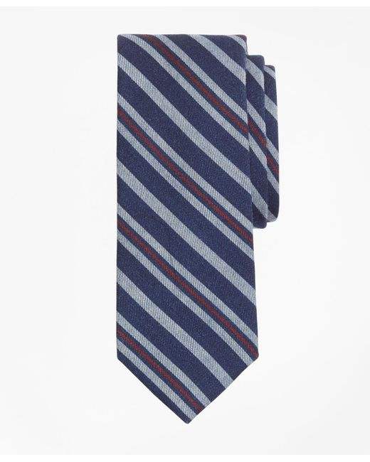 Brooks Brothers - Blue Alternating Stripe Print Tie for Men - Lyst