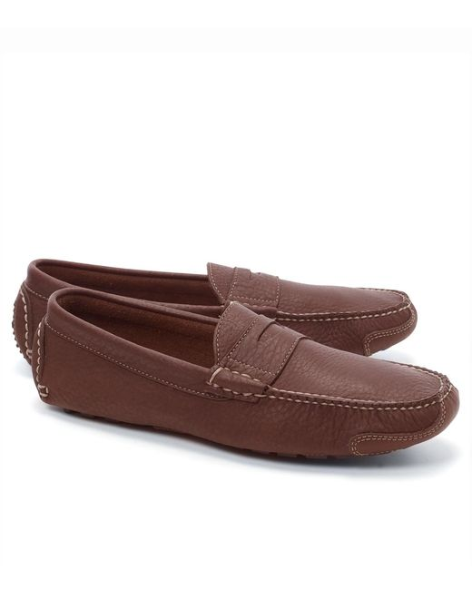 Brooks Brothers - Brown American Bison Drivers for Men - Lyst