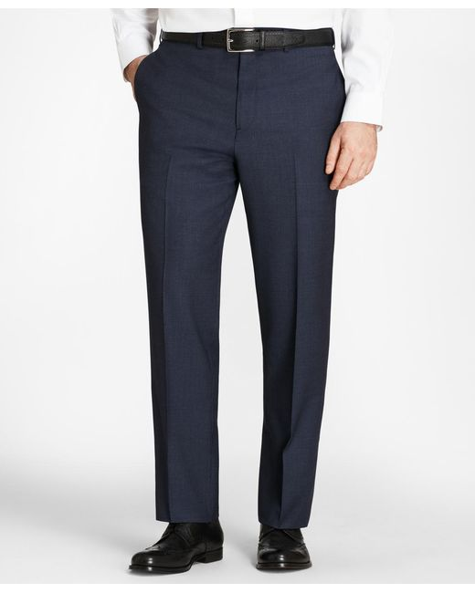 Brooks Brothers - Blue Madison Fit Check Trousers for Men - Lyst