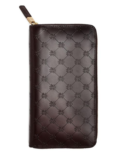 Brooks Brothers - Brown Golden Fleece® Embossed Travel Wallet for Men - Lyst
