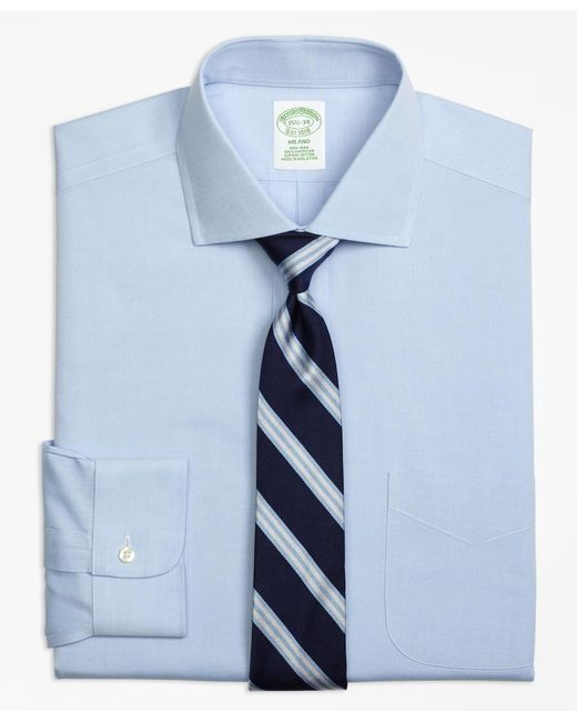 Brooks Brothers - Blue Non-iron Milano Fit Spread Collar Dress Shirt for Men - Lyst
