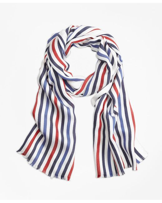 Brooks Brothers - Blue Multi-color Stripe Scarf for Men - Lyst