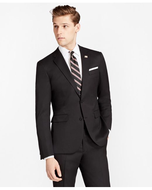 Brooks Brothers - Black Milano Fit Stretch Wool Two-button 1818 Suit for Men - Lyst