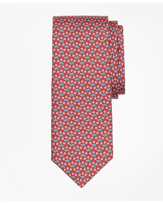 Brooks Brothers - Red Turtle And Leaf Print Tie for Men - Lyst