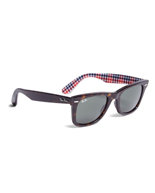 Brooks Brothers | Purple Ray-ban® Wayfarer Sunglasses With Gingham | Lyst
