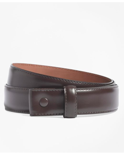 Brooks Brothers - Brown Leather Strap for Men - Lyst