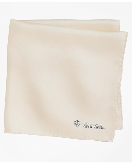 Brooks Brothers | White Silk Pocket Square for Men | Lyst