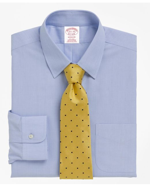 Brooks Brothers | Blue Non-iron Madison Fit Tab Collar Dress Shirt for Men | Lyst