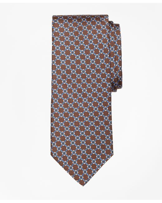 Brooks Brothers | Brown Diamond Link Print Tie for Men | Lyst