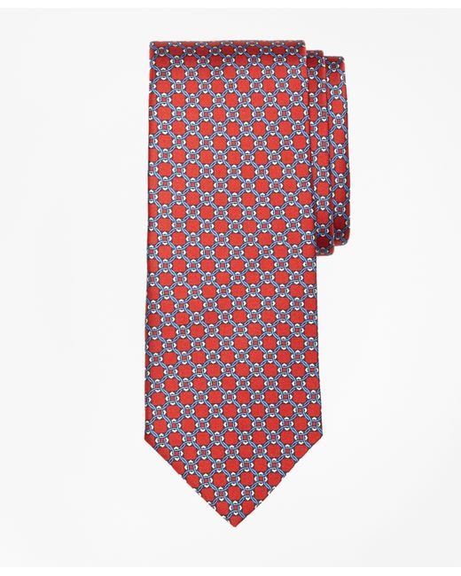 Brooks Brothers | Red Diamond Link Print Tie for Men | Lyst