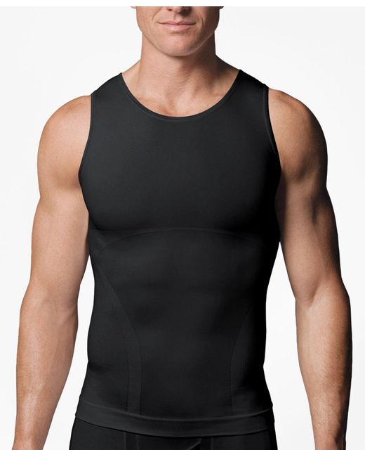 Brooks Brothers | Black Spanx® Zoned Performance Tank for Men | Lyst