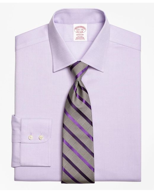 Brooks Brothers | Purple Non-iron Madison Fit Royal Oxford Dress Shirt for Men | Lyst
