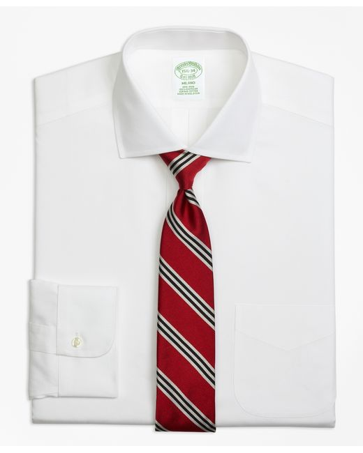 Brooks Brothers   White Non-iron Milano Fit Spread Collar Dress Shirt for Men   Lyst