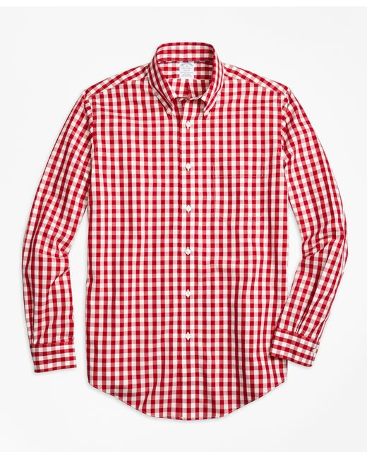 Brooks Brothers | Red Non-iron Regent Fit Gingham Sport Shirt for Men | Lyst