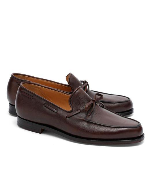 Brooks Brothers | Brown Peal & Co.® Lightweight Tie Loafers for Men | Lyst