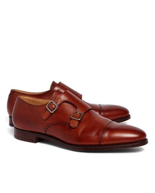 Brooks Brothers | Brown Peal & Co.® Double Monk Strap Shoes for Men | Lyst