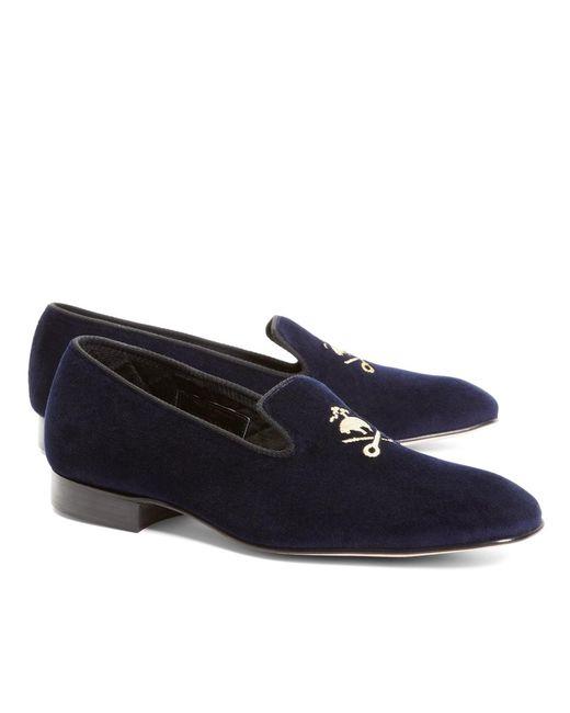 Brooks Brothers | Blue Velvet Fleece And Shears Slippers for Men | Lyst
