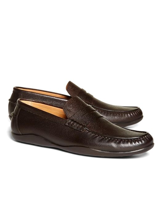 Brooks Brothers | Brown Harrys Of London® Scotch Grain Basel Leather Loafers for Men | Lyst