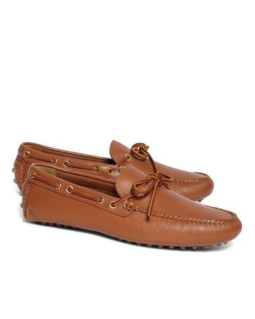 Brooks Brothers | Brown Tie Driving Moccasins for Men | Lyst