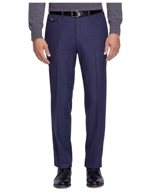 Brooks Brothers | Blue Regent Fit Wool Trousers for Men | Lyst