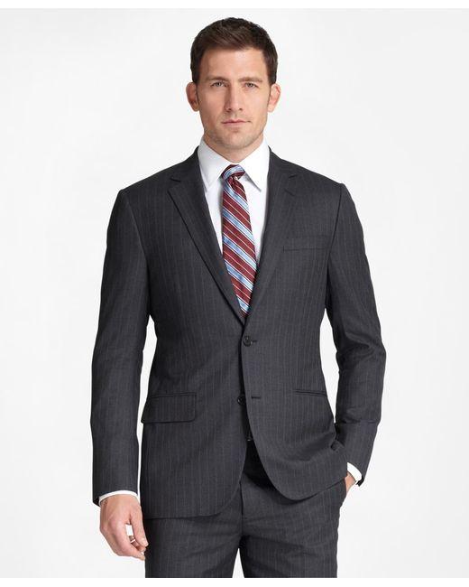 Brooks Brothers | Gray Madison Fit Saxxon Wool Herringbone 1818 Suit for Men | Lyst