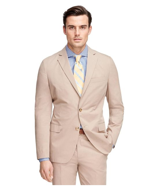 Brooks Brothers   Natural Fitzgerald Fit Twill Suit for Men   Lyst